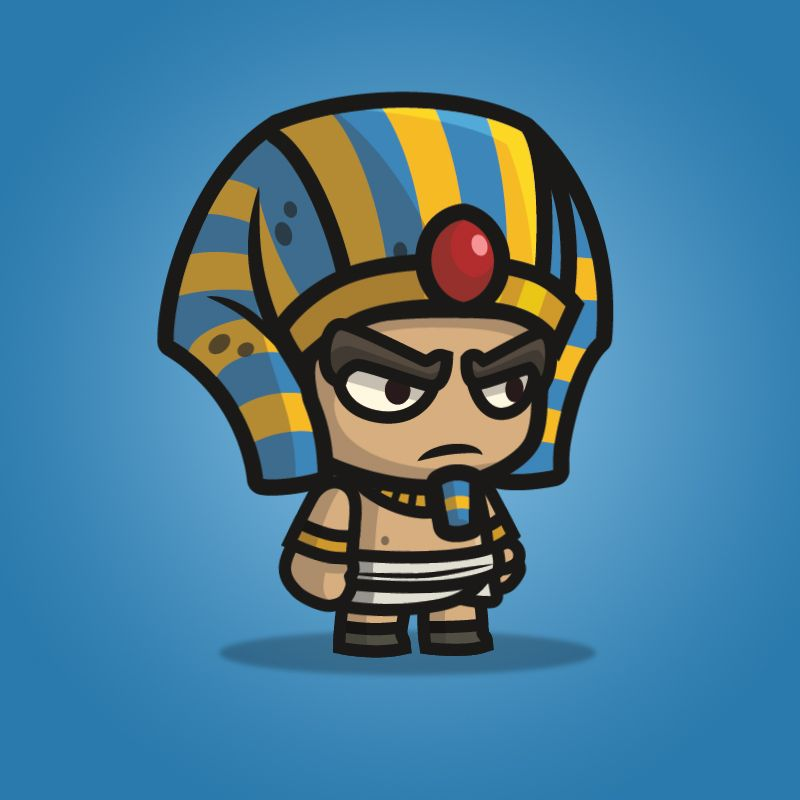 Egyptian sentry 2d character sprite in 2020 2d