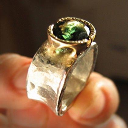 platinum ring,18k gold setting