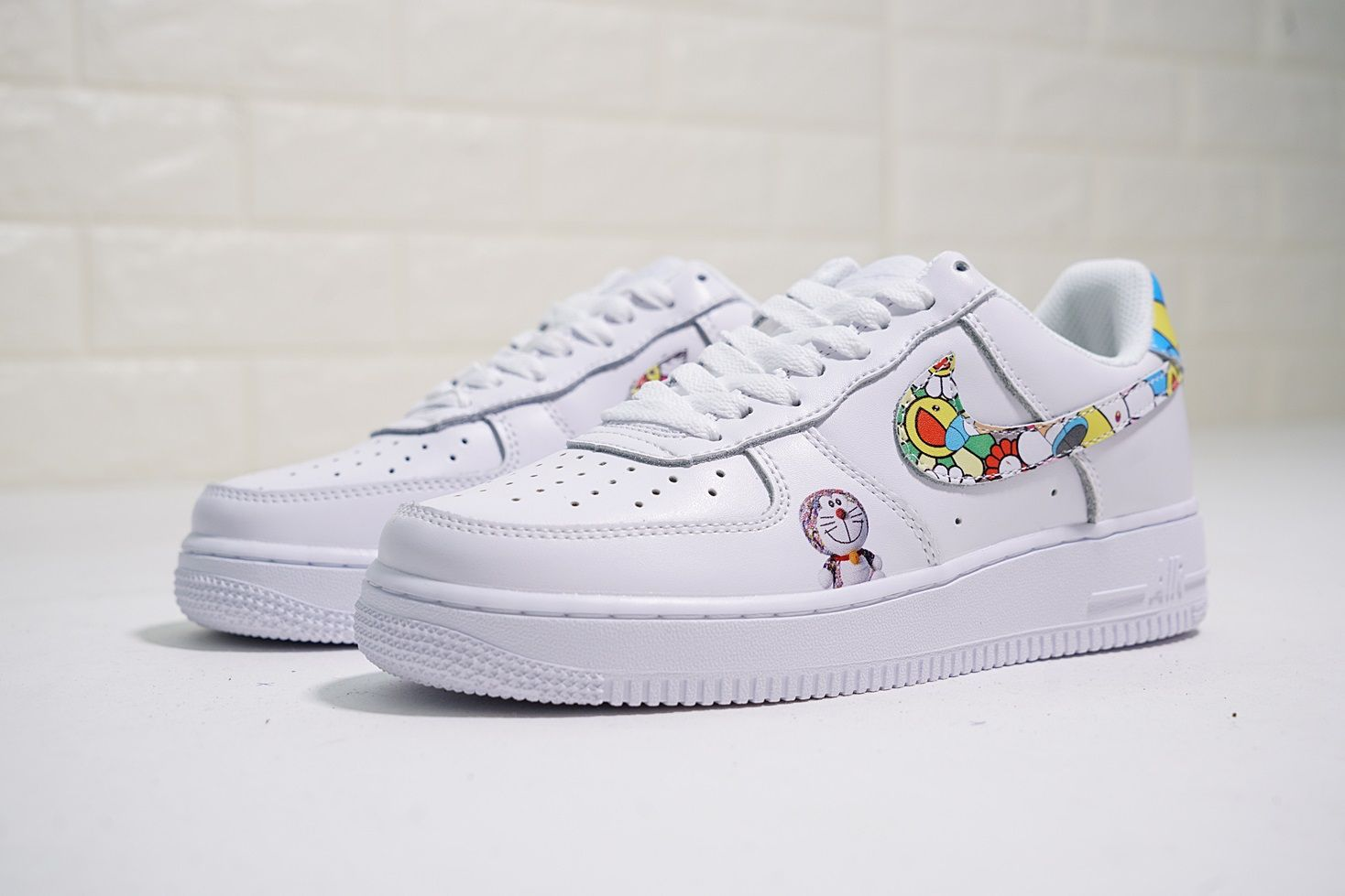 best authentic 2ebd7 df3bc takashi murakami x doraemon x nike air force 1 low 太陽花多啦A夢