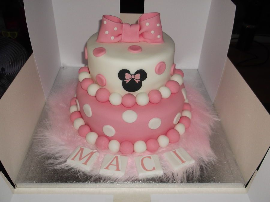 Minnie Mouse 2 tier cake.  cakes  Pinterest  Michael angelo, Minnie ...