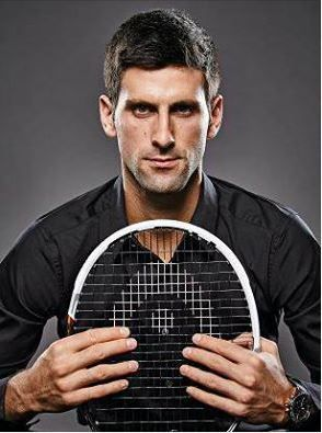 Novak Djokovic photographed in London wearing a Novak Djokovic Limited Edition Astron GPS Solar watch by Mark Harrison for The Times Magazine