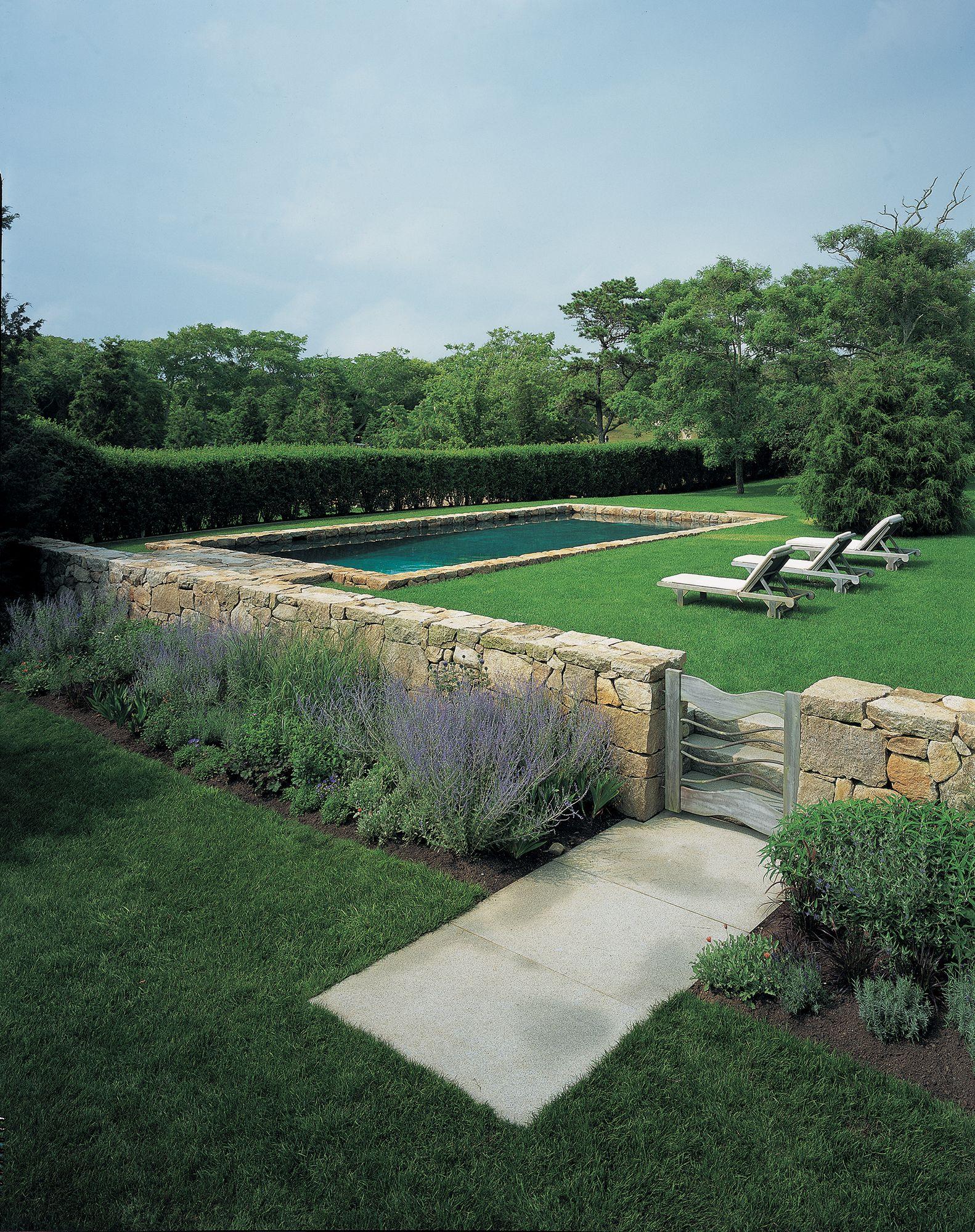 Stone Detail Surrounding Pool