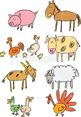 Image of: Step Beginning Drawing Farm Animals For The Littles Pinterest Stick Figure Farm Early Childhood Art Pinterest Drawings