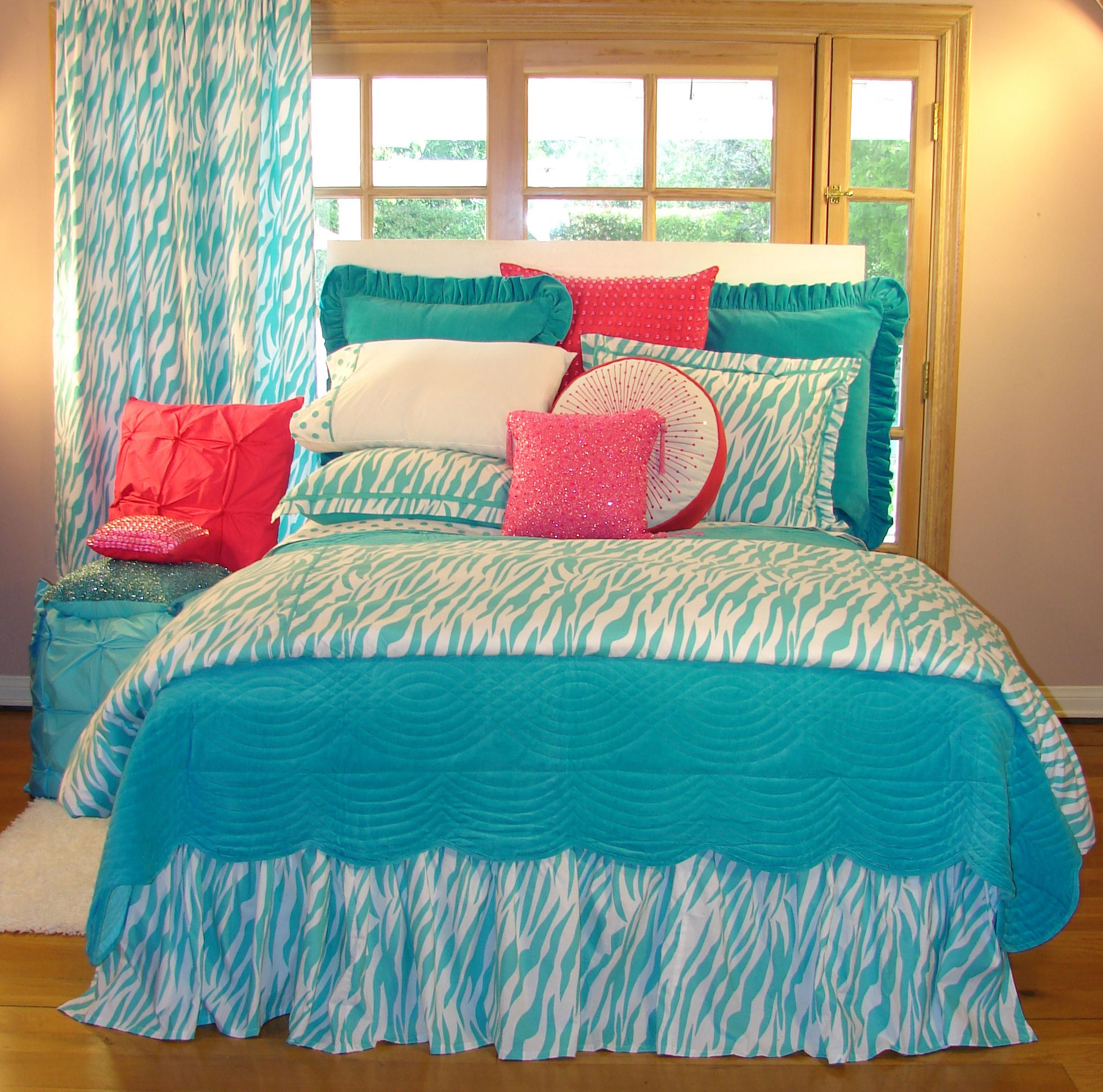 tween bedroom sets tween teen bedding turquoise zebra teen bedding 13626