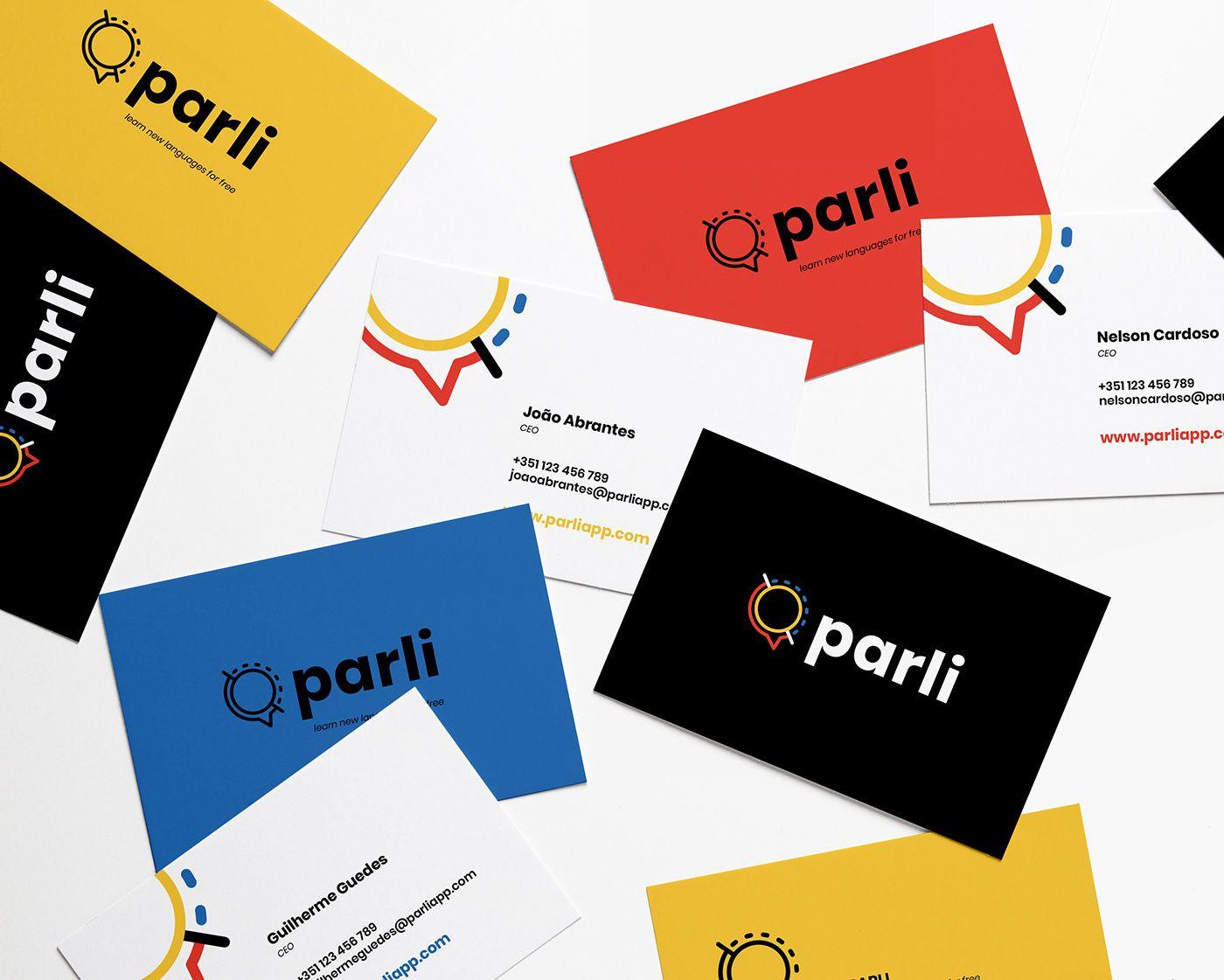 PARLIapp branding on Behance