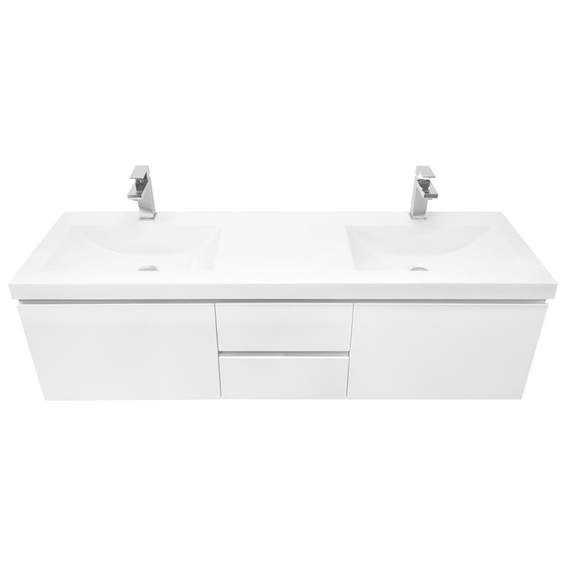 cibo 1500mm element double basin vanity from bunnings 1190 boys bathroom - Bathroom Cabinets Bunnings