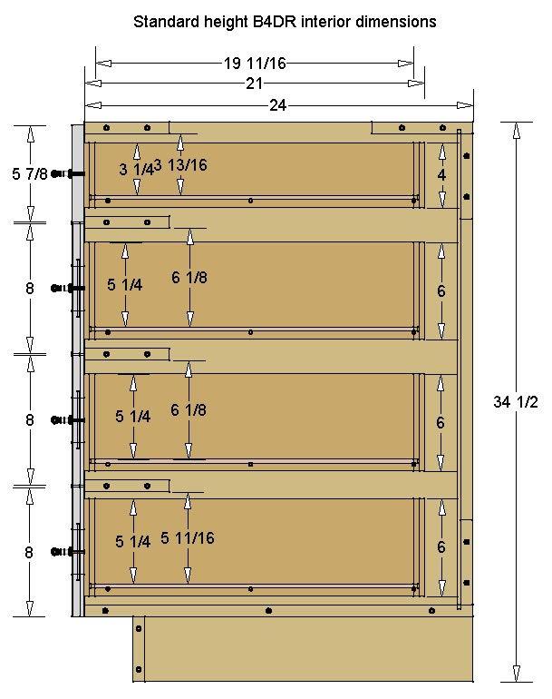 4 Drawer Base Cabinet Kitchen Cabinet Dimensions Installing