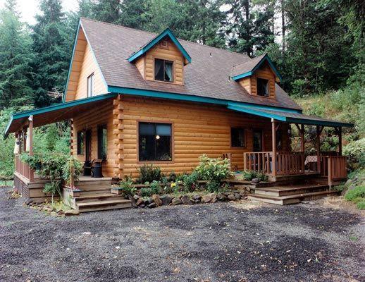 unique log home