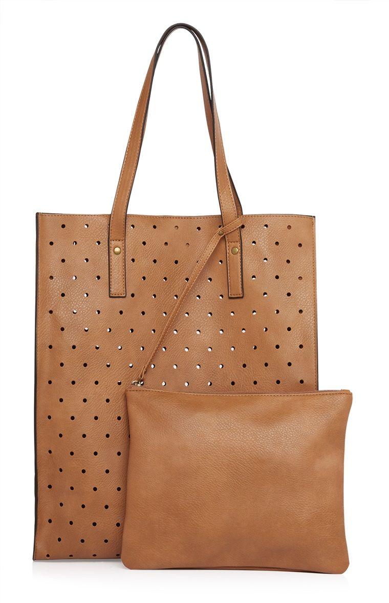 incroyable sélection le magasin plus de photos Primark - Cabas marron perfor  en polyur thane | Bag | Sac ...