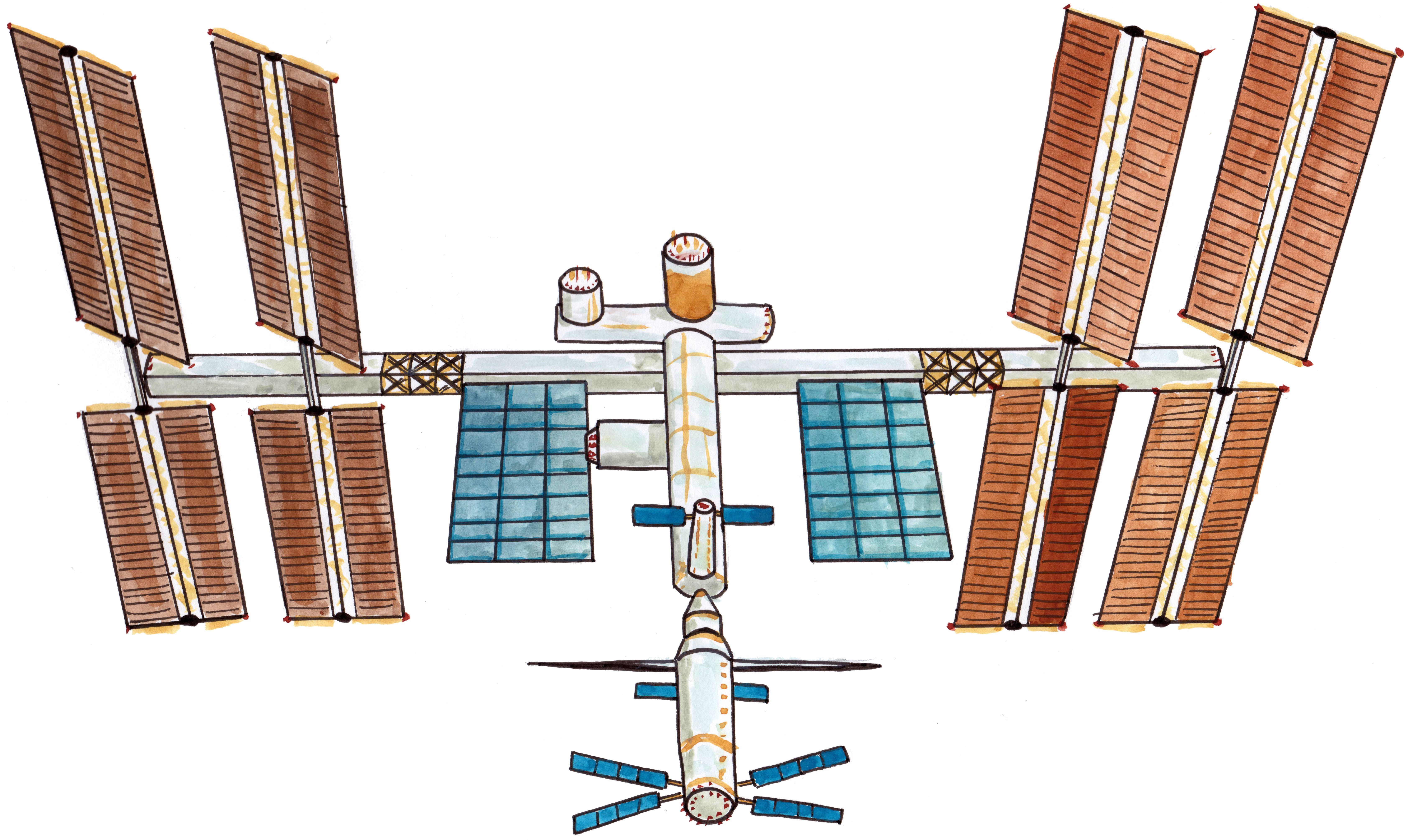 This is a photo of Hilaire International Space Station Drawing