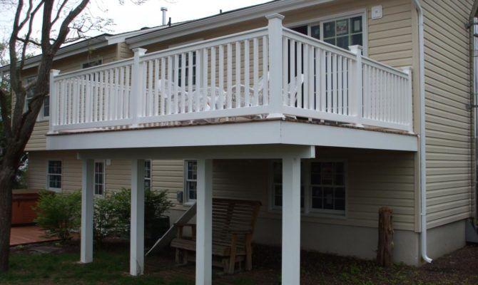 Deck Second Floor Forked River Porch Design Roof Design Exterior Tiles