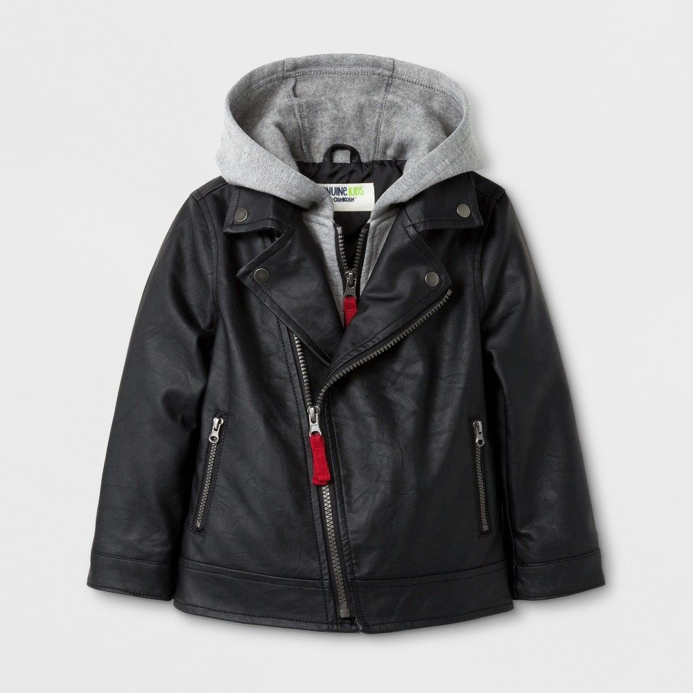 f7dbcfa4f5c2 Toddler Boys  Asymmetric Zip Moto Jacket with Hood Genuine Kids from ...