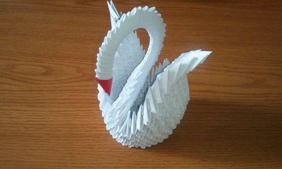 3d Origami White Swan Elegant Swans Pinterest Origami 3d