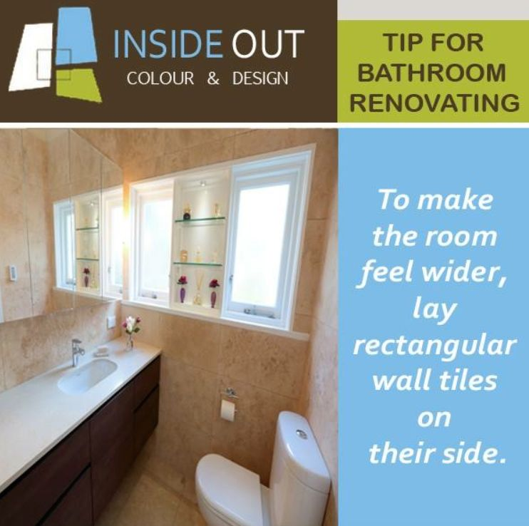 How to make a bathroom look wider