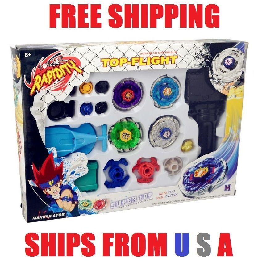 Beyblade Metal Fusion Masters Fight Launcher Rare Toy Set 4d Usa