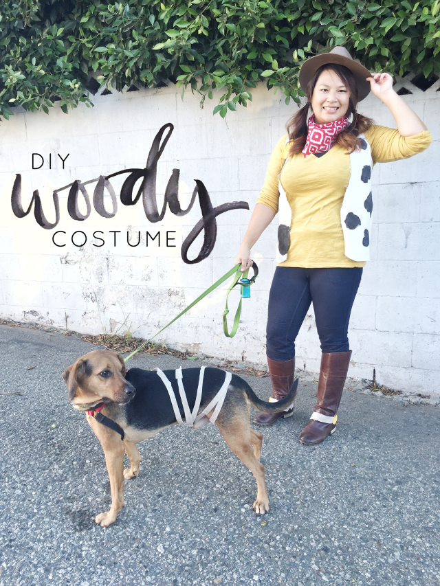 Happy Halloween! This year I decided to dress up as Woody from Toy Story and was able to pull the costume together using household items and pieces from my closet. Yeehaw! | Hey Love Designs http://www.heylovedesigns.com/2015/10/31/halloween-woody-toy-story/