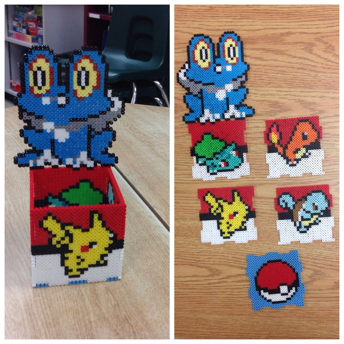 pokemon box perler beads by amanda collison easy perler bead patterns 3d perler bead  [ 1200 x 1200 Pixel ]