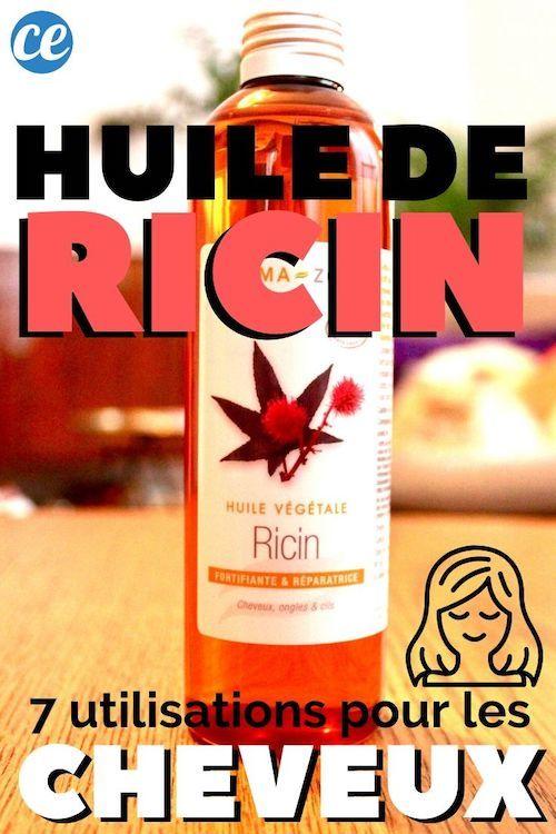 L'huile de ricin a des utilisations incroyables pour les cheveux ! comment-economiser.fr vous présente ici les 7 meilleures utilisations pour que vos cheveux profite de tous ses bienfaits. Que vous ayez besoin de faire pousser vos cheveux, des cheveux crépus ou besoin d'un masque revitalisant, cette huile est magique ! Vos cheveux avant et après ne seront plus les mêmes. #huiledericin