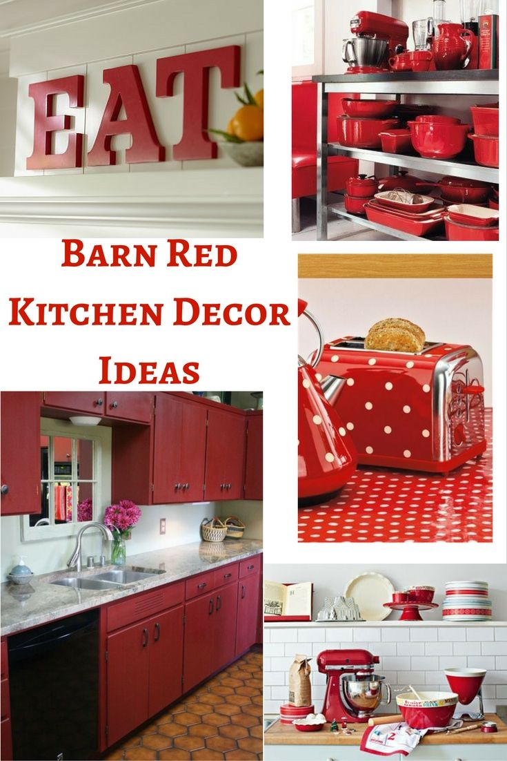 Barn Red Kitchen Part - 20: Barn Red Kitchen Decor Ideas add that little bit of color to any country  style kitchen