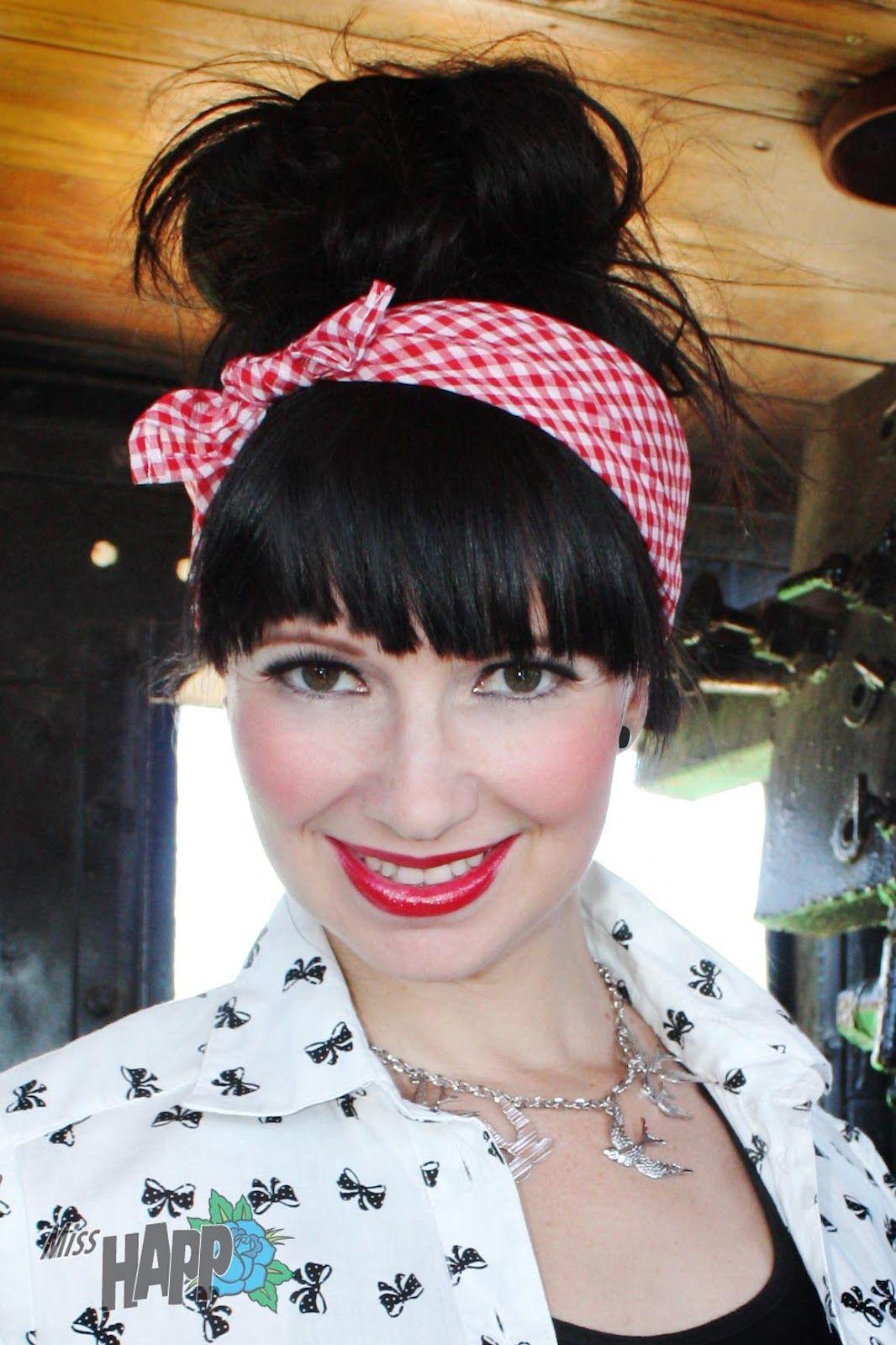 yes! i love this! pin-up hair bandana | hair | pinterest | hair