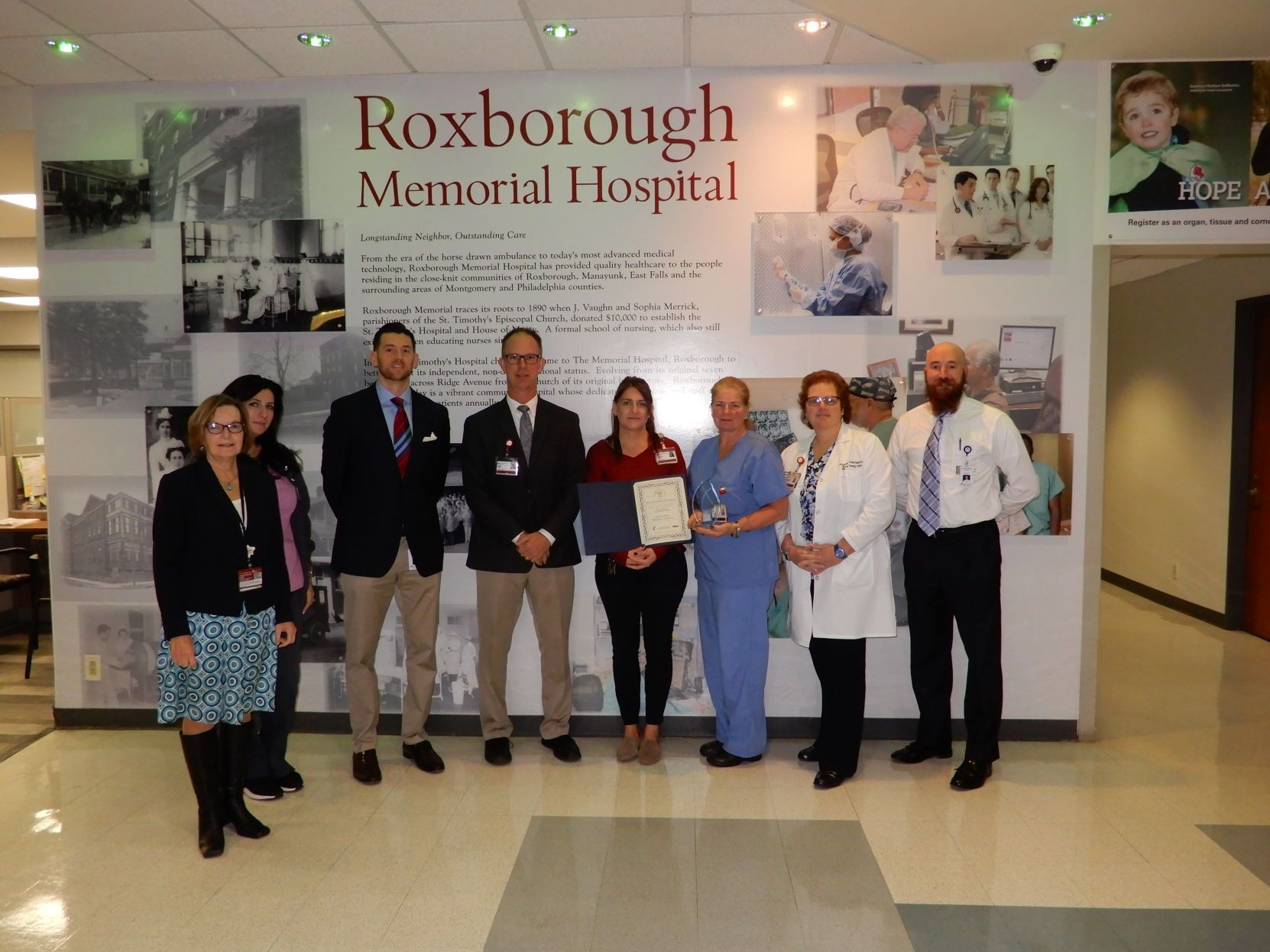 Roxborough Memorial Hospital honored for events