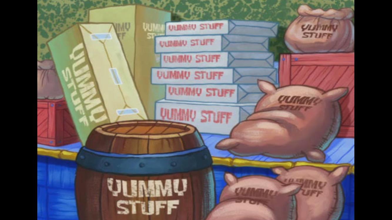Yummy Stuff Spongebob Squarepants Foods And Drinks And Snacks