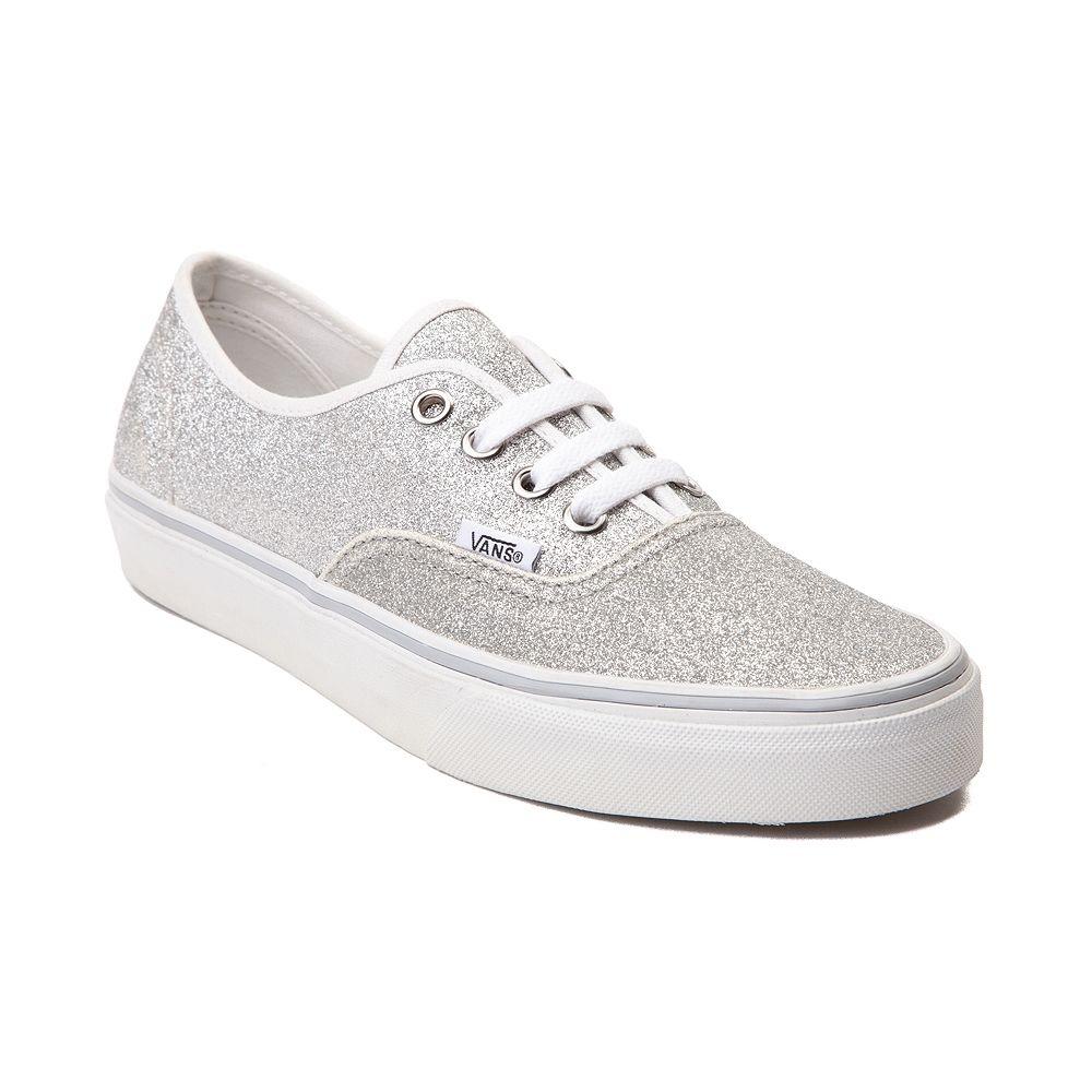 Vans Authentic Glitter Skate Shoe, Silver, at Journeys Shoes.