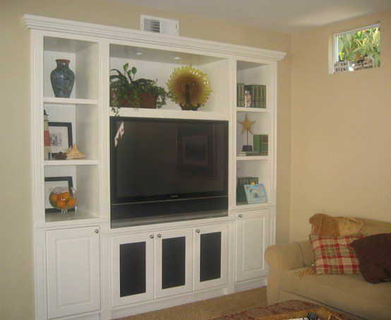 Custom Built In TV Entertainment Home Theater Media Centers NYC Brooklyn NY Bookcases