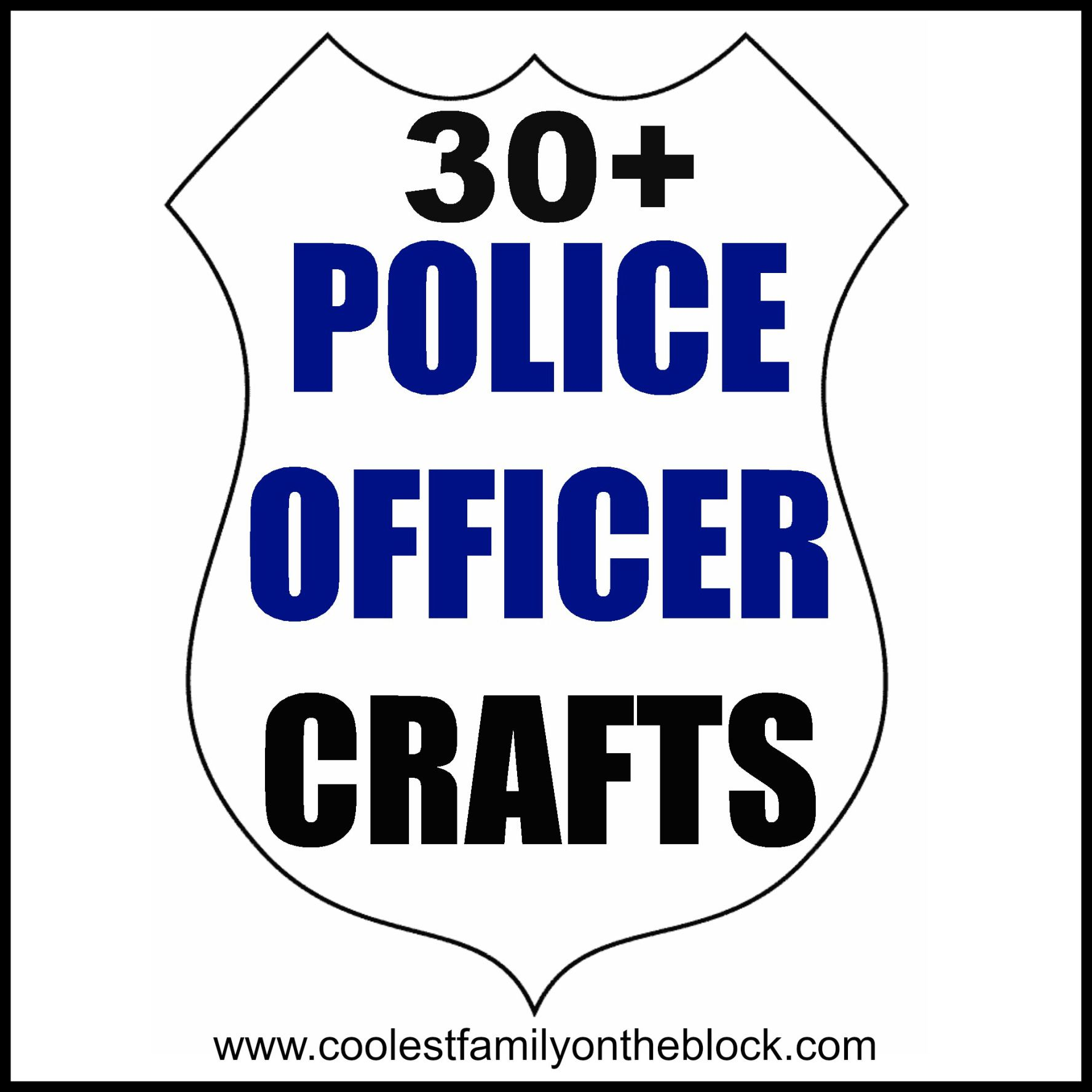 Police Officer Crafts