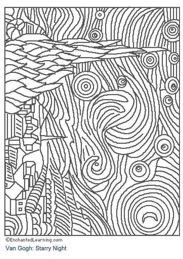 Starry Night Histoire Des Arts Arts Visuels Cycle 2 3