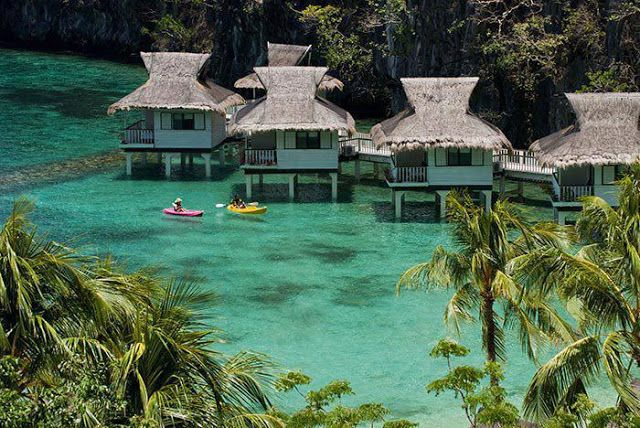 El Nido, Palawan, Philippines Yeah its gorgeous, but the kayaks are what got my attention