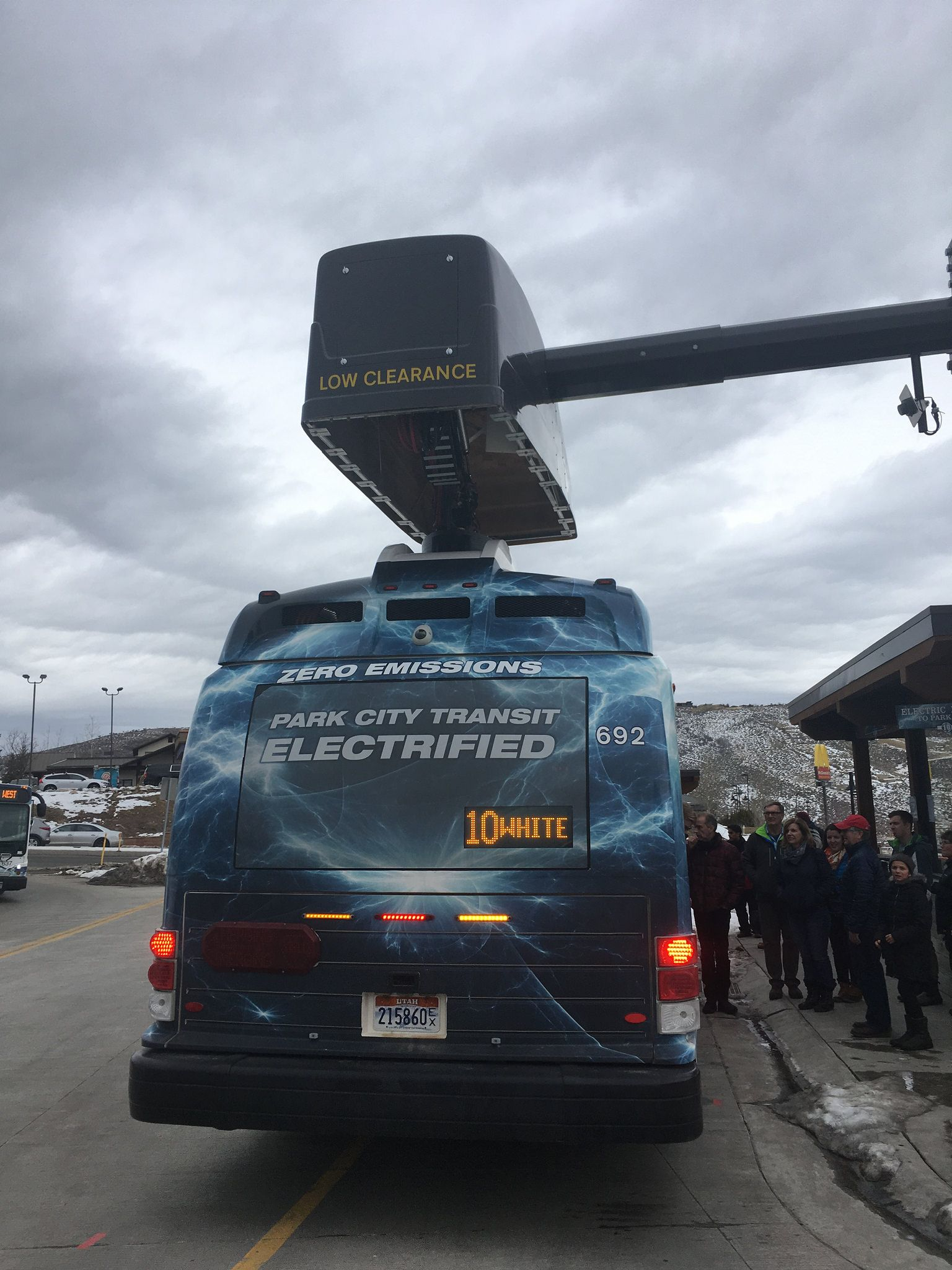 Proterra Electric Bus Getting Charged Up