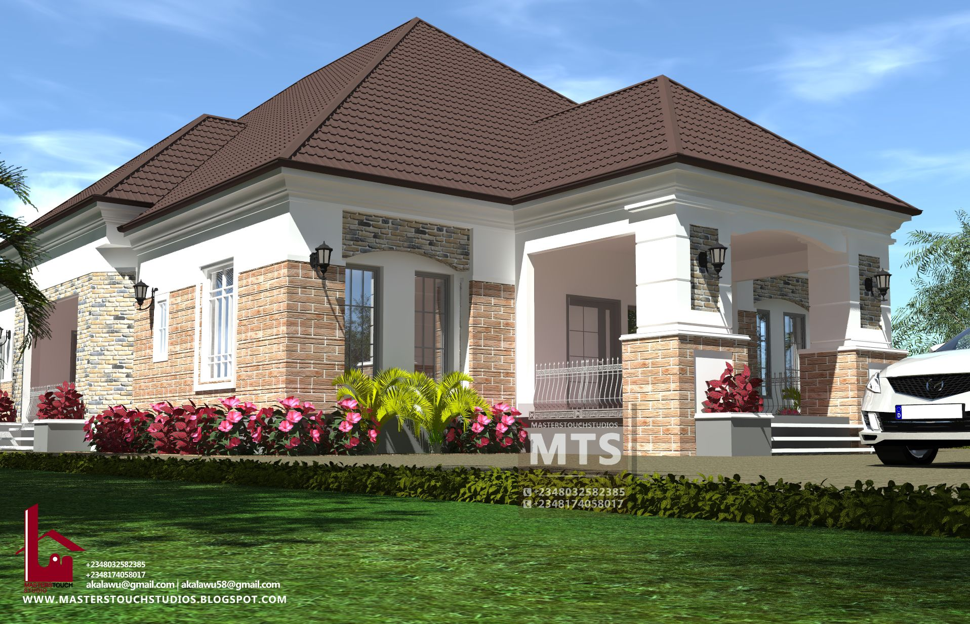 5 Bedroom Bungalow Rf 5003 Modern Bungalow House Plans Bungalow House Plans Bungalow House Design