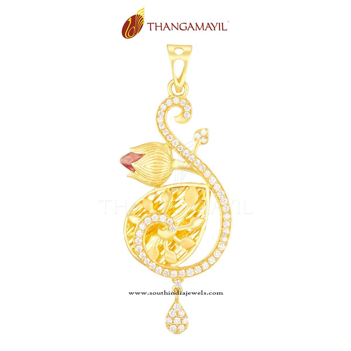 Gold Pendant from Thangamayil Jewellery | Gold pendant, Pendants ...