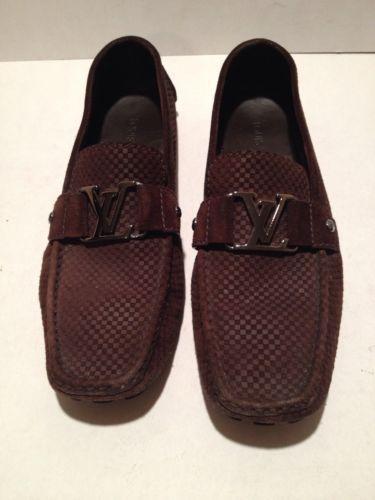 d5869c59f42e Louis Vuitton Dark Brown Suede Moccasin