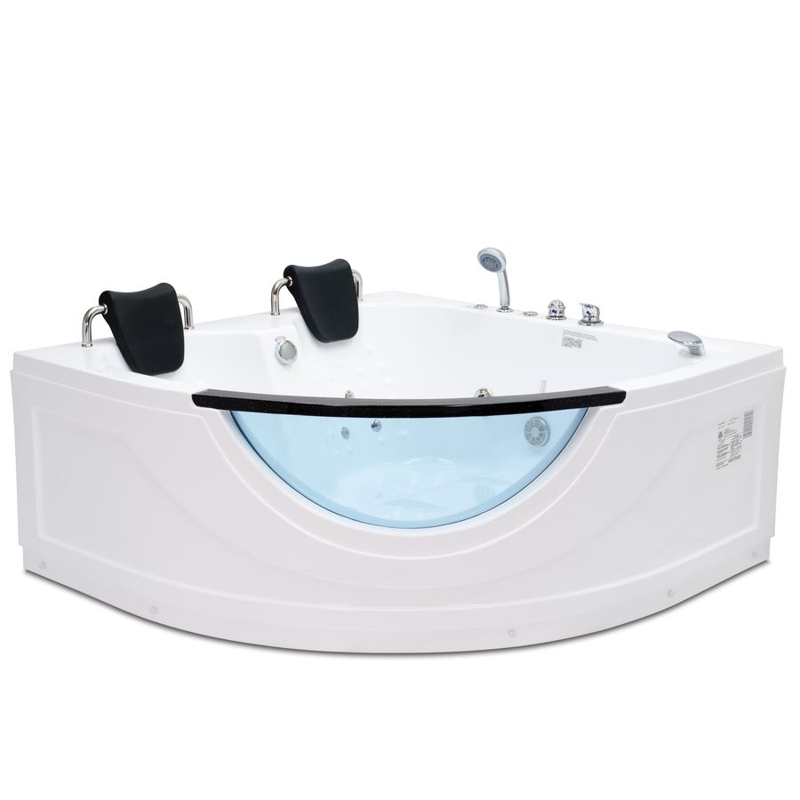 Northeastern Bath 2-Person White Acrylic Corner Whirlpool Tub ...