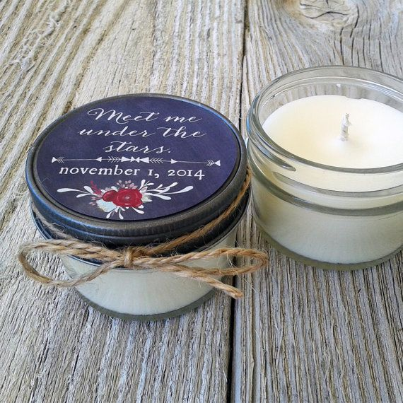 Personalized Soy Candles Are A Wonderful Way To Say Thank You Your Guests All Handmade In Paso Robles California Order