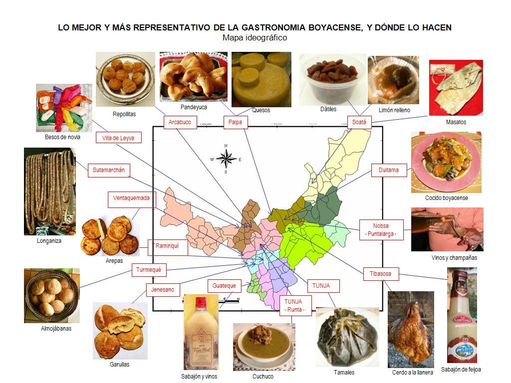 Mapa Gastronómico Gastronomico Gastronomia Boyaca