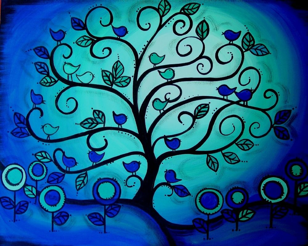 Home Design Easy Acrylic Painting Ideas Trees Wainscoting Kids With