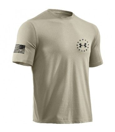 d906bde4 Wounded Warrior Project Under Armour Freedom Flag Tee Desert Sand ...