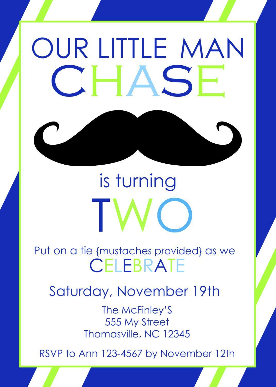 Little man Mustache Birthday Party Invitation by PaperclutchShop ...