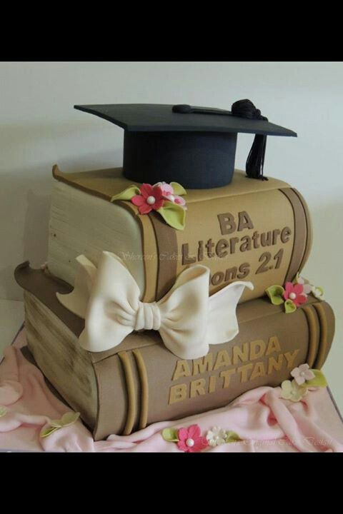 Book Cake Cute For Graduation But With Your Favorite Books