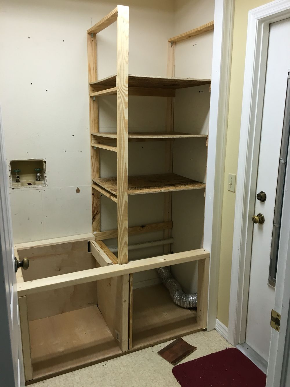Making the shelves up the side