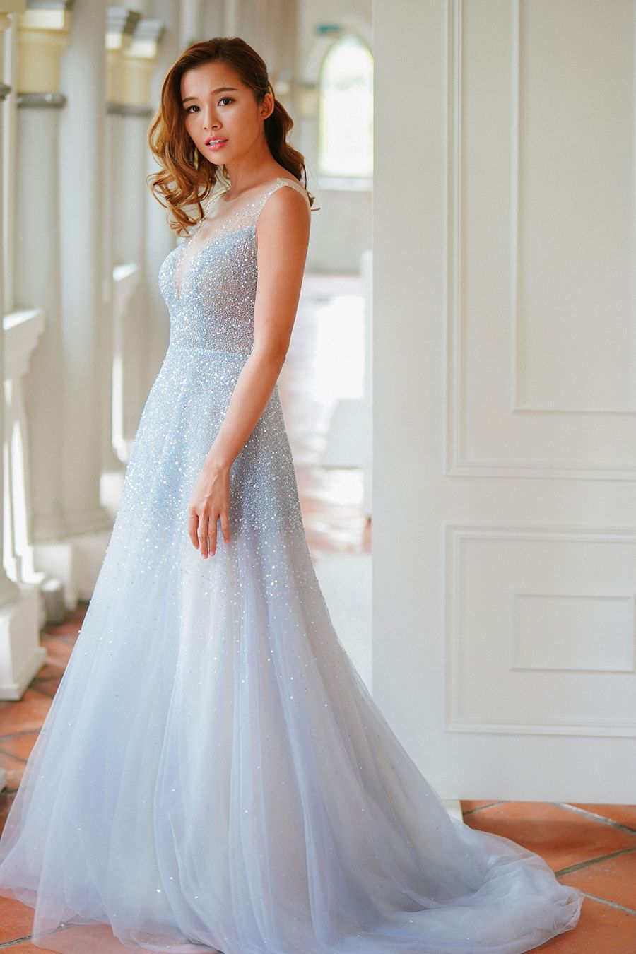 Celestial Themed Styled Wedding Shoot Our Love Is Written In The Stars Disney Wedding Dresses Light Blue Wedding Dress Wedding Dresses [ 1350 x 900 Pixel ]
