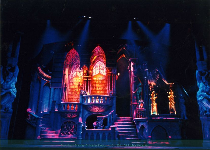 Beauty and the Beast set from the 90s broadway musical
