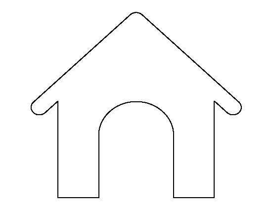 Dog House Pattern Use The Printable Outline For Crafts Creating