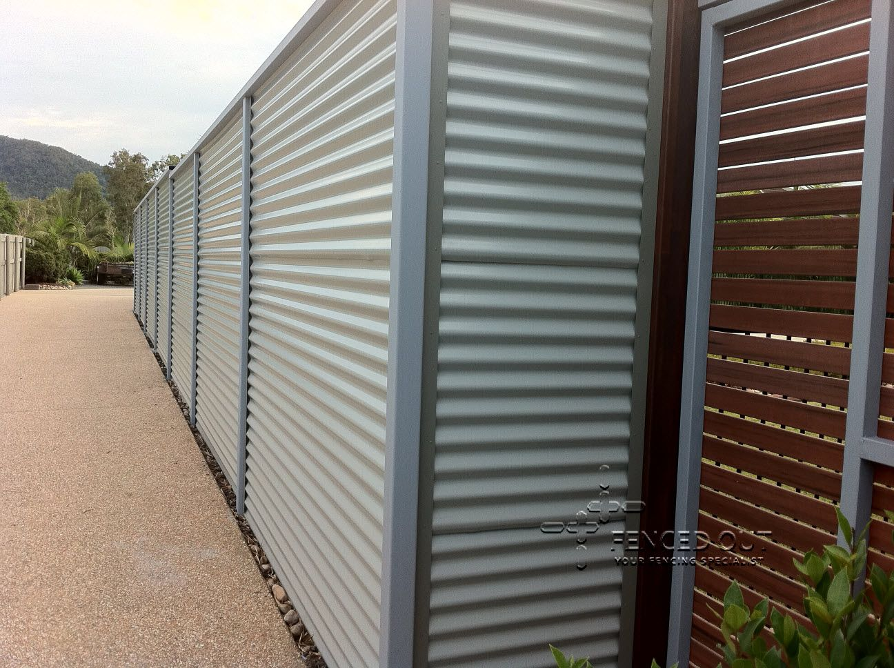 Used Corrugated Metal As Fencing Colorbond Fencing