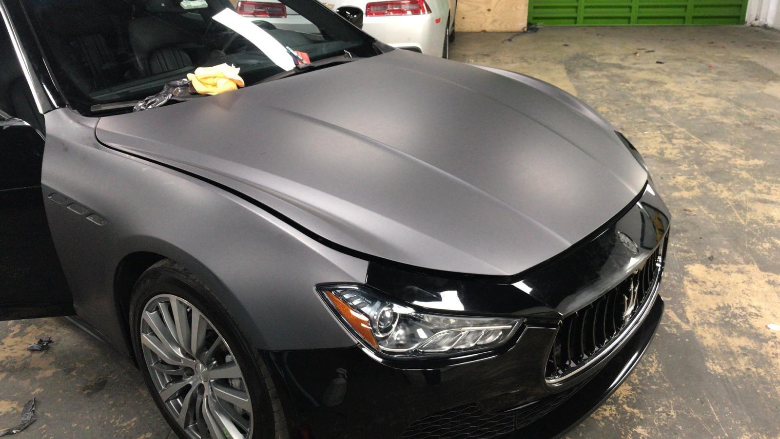 Matte Dark Grey Car Wraps Miami Car Wrap Car Boat Wraps