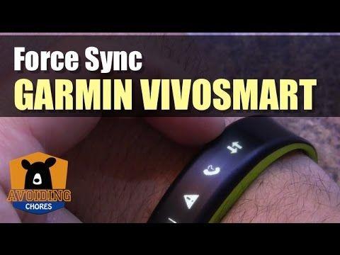 Garmin Vivosmart - How To Force Sync | Garmin