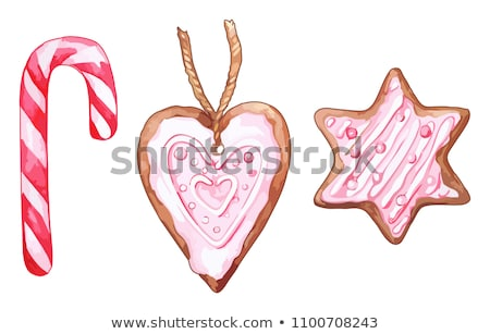 Watercolor pink heart shaped sixpointed star ginger